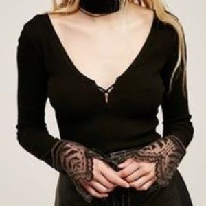 Free People Last Dance Cuff Thermal Top small